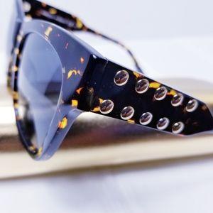 Rebecca Minkoff Stud Gradient Square Sunglasses